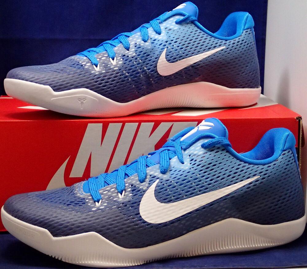 Nike Kobe XI 11 Mamba Day QS iD blanc Bleu SZ 13 ( 865773-995 )