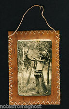 1920's NATIVE AMERICAN INDIAN ORIGINAL PHOTO ~ ANTIQUE HANDMADE BIRCH WOOD FRAME
