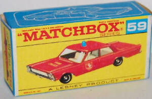 Matchbox-Lesney-No-59-FIRE-CHIEF-CAR-Empty-Repro-D-Style-Box