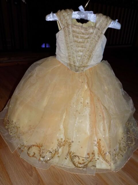 0d87b32be39 Size 4 Disney Store Limited Edition Beauty and the Beast Belle Costume Dress  New