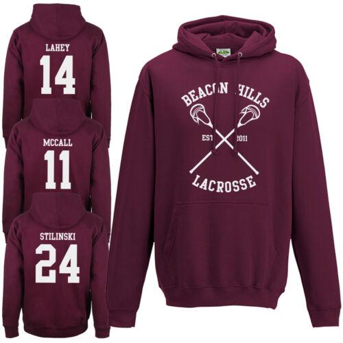 Beacon Hills Lacrosse Hoodie Teen Wolf McCall Stilinski Lahey Unisex Hoody To D
