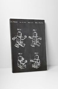Lego-Figure-Patent-Print-Gallery-Wrapped-Canvas-Print-BONUS-WALL-DECAL
