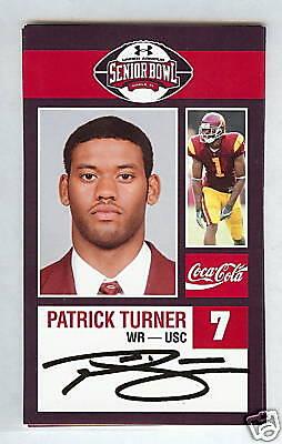 PATRICK TURNER 2009 SENIOR BOWL USC TROJANS ROOKIE CARD NEW YORK JETS