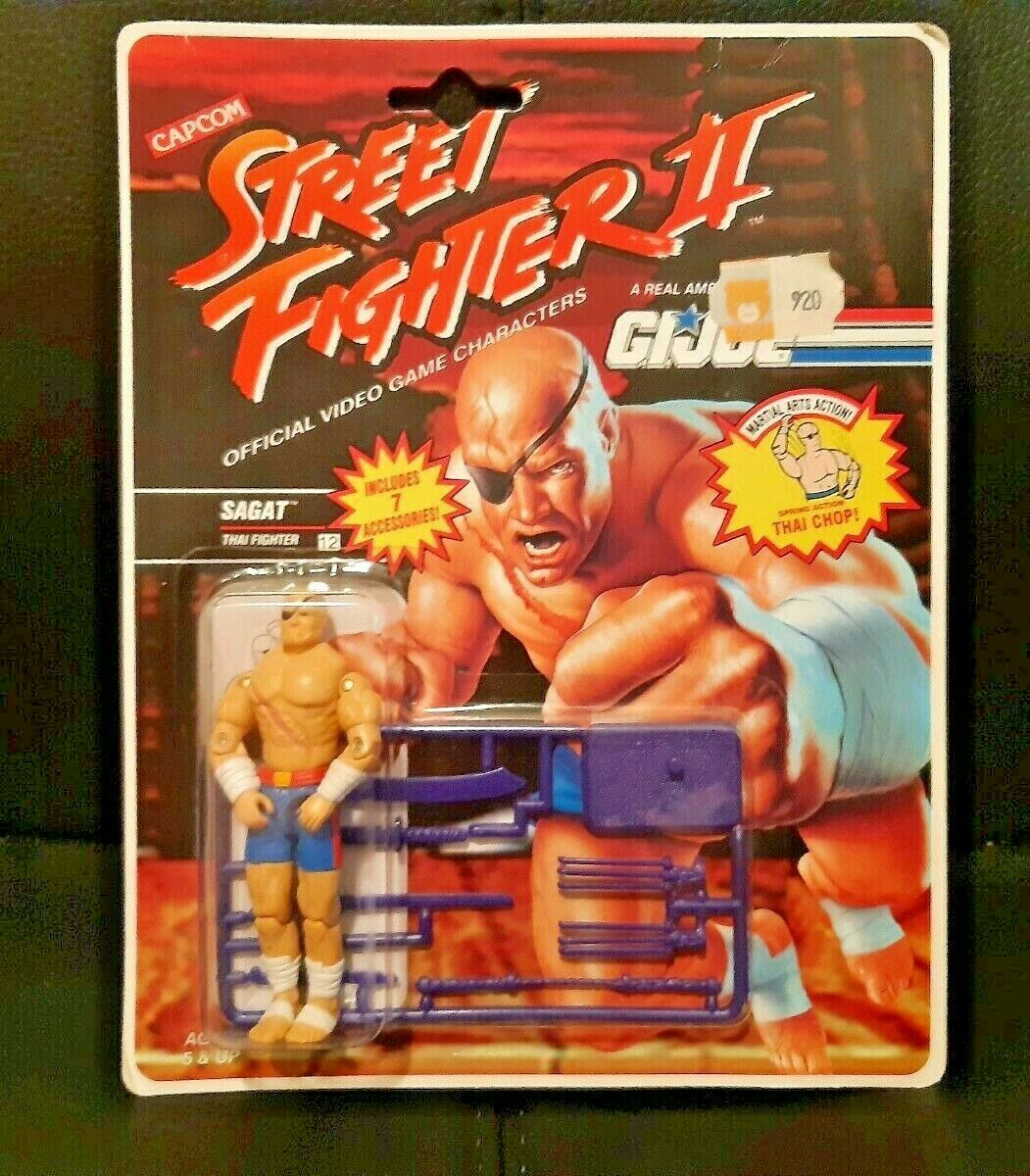 Gi Joe Street combatiente Sagat 1994 Hasbro Rare Vintage