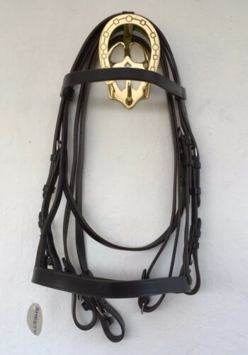 QUALITY MINI SHETLAND HUNTER BRIDLES IN BLACK OR BROWN