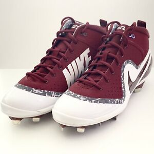 423c3f10063 New! Nike Force Zoom Trout 4 Baseball Cleats MAROON Size 13  917837 ...