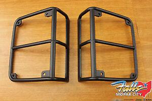 2007-2018 Jeep Wrangler JK Black Satin Rear Tail Light Covers Mopar OEM