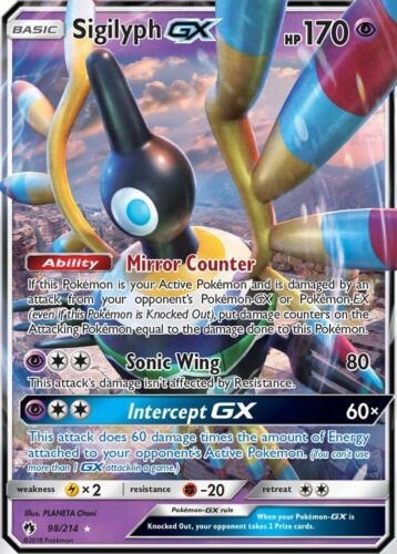 GX EN NM Pokemon 98//214 SM8 Lost Thunder Sigilyph GX