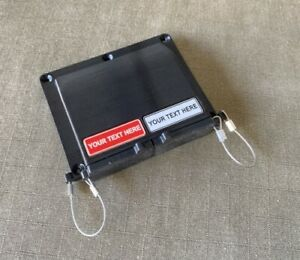 Black Double Anderson SB50 50amp Plug Surface Cover with Custom Labels