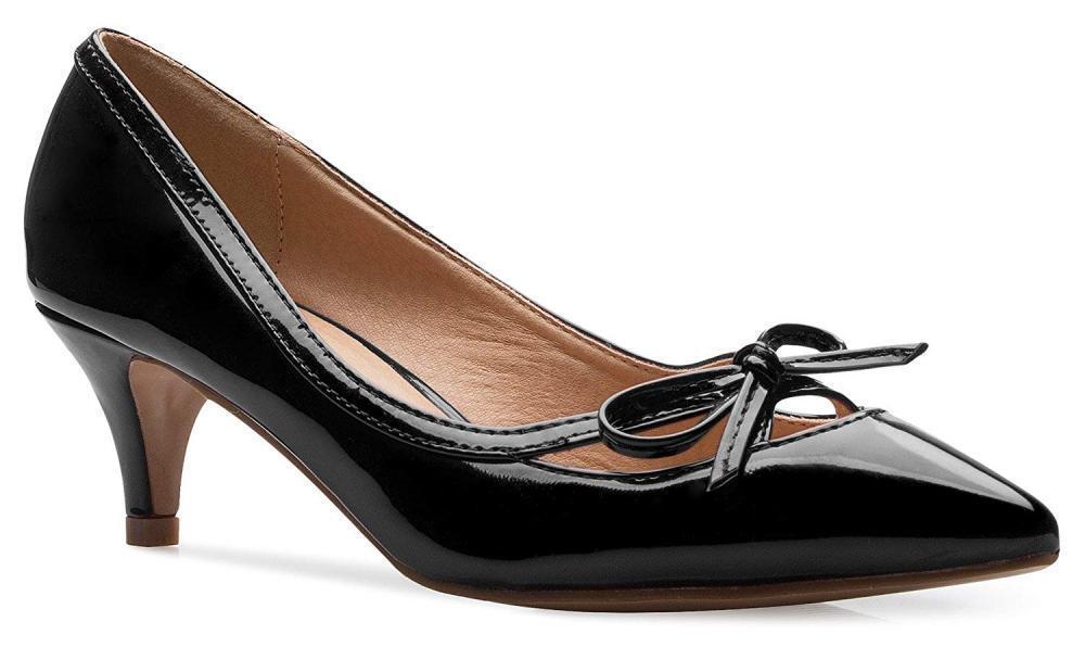 OLIVIA K femmes¡¯s Classic Closed Toe D'Orsay Bow Kitten Heel Pump   Dress,...