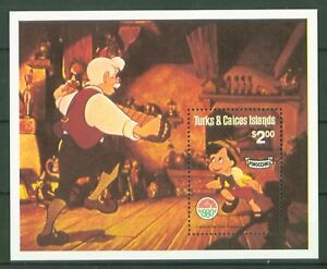 Turks & Caicos 1980-pinocchio Noël Walt Disney-bandonion Bandoneon Beau Lustre