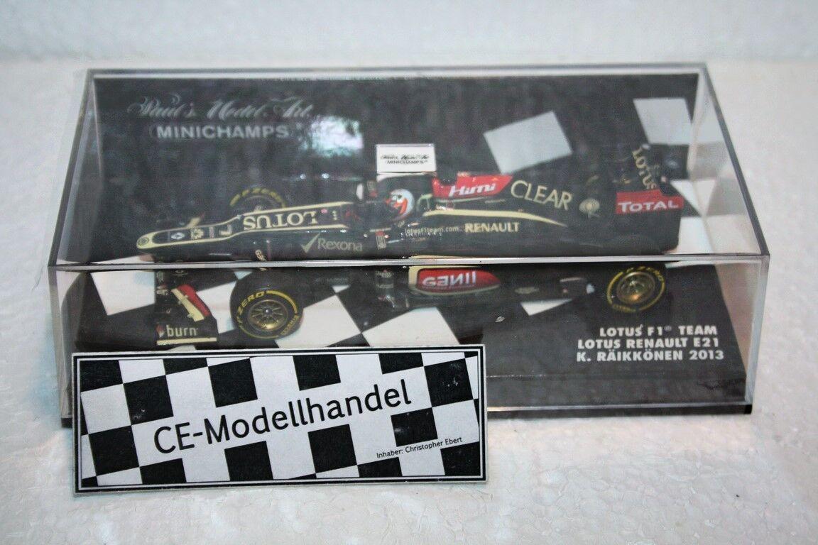 Lotus F1 Team • Lotus Renault E21 • 2013 • K. Räikkönen • Minichamps • 1 43