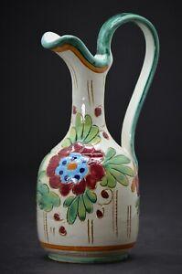 "HB Vintage Pottery - Pitcher - Ewer - Pottery Mark ""HB"" - 9 1/2"" Tall"