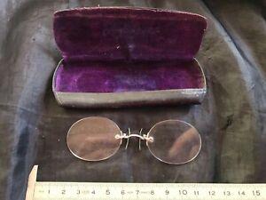 LORGNONS anciens BINOCLES PINCE-NEZ LUNETTES antique eyglasses occhiali rare @