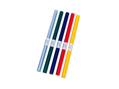5x Bucheinbandfolie Buchfolie EUR 0,35 //m 2mx40cm 5 verschiedene Farben