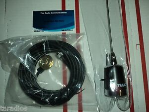 Tram UHF 400 - 440 MHZ ANTENNA ROOF KIT - NMO Mount 3 DB GAIN W/ NO GROUND Plane