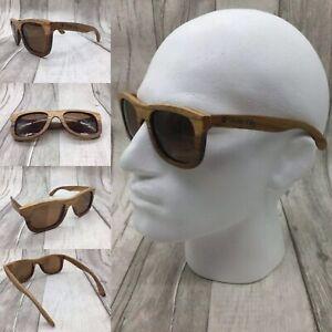 Men's Handcrafted Zebra Wooden Frame Brown TAC Polarized Lenses Sunglasses