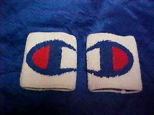 Champion Wristbands White Teri Cloth Material Original Vintage 1980's-90's 1 Pr