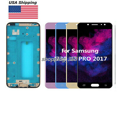 YANGJ Phone LCD Screen OLED Material LCD Screen and Digitizer Full Assembly for Galaxy J7 J730FM//DS Black Color : Blue J730F//DS 2017