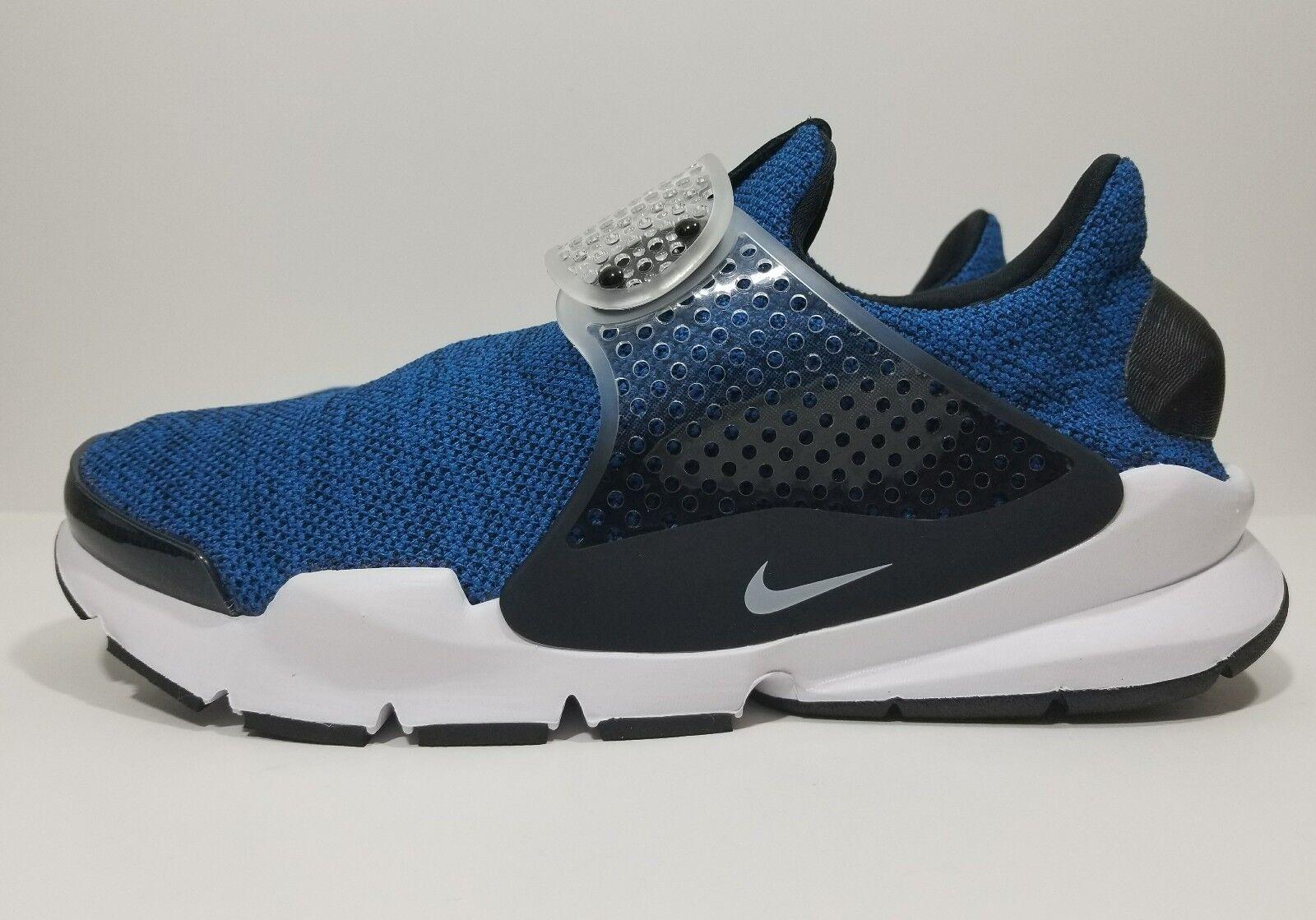 Nike Sock Dart SE Mens Running Cross Training shoes bluee White Black Size 10
