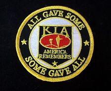KIA HAT PATCH ALL GAVE SOME SOME GAVE ALL US ARMY MARINES NAVY AIR FORCE POW WOW