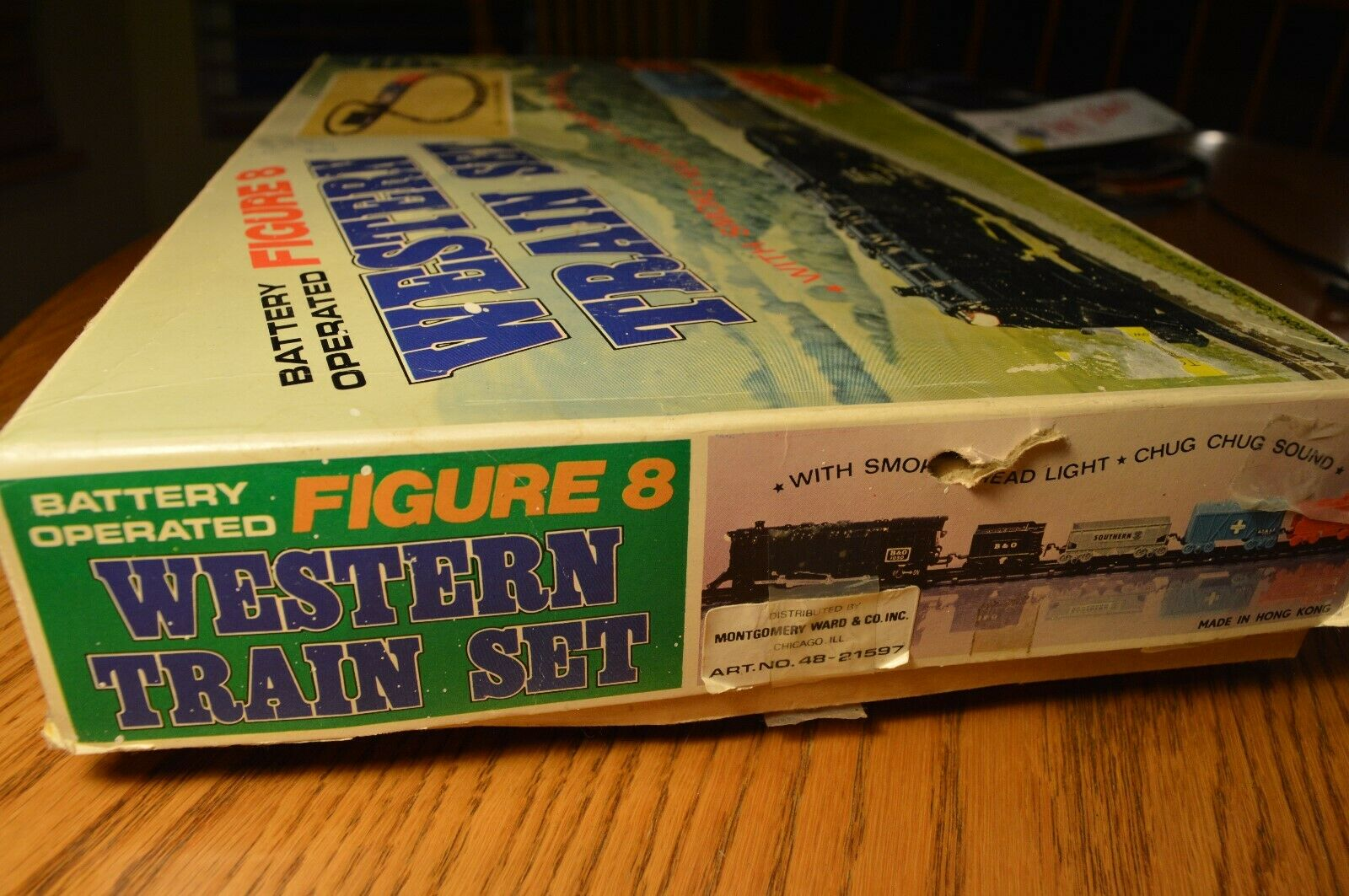 Vintage Battery Operated Western Train Set
