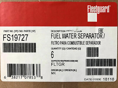 FS19581 Fleetguard Fuel Filter Water Separator Spin-On Twist/&Drain