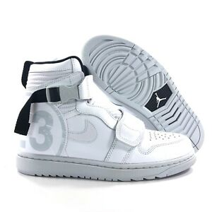 new style e2176 2e8db Details about Nike Air Jordan 1 Moto White Black Grey AT3146-100 Men's 9.5