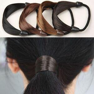 Womens-Braid-Straight-Wig-Elastic-Hair-Band-Rope-Scrunchie-Ponytail-Holder