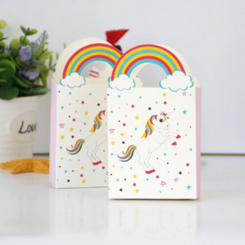 10Pcs Unicorn Paper Gift Bags Candy Bags Party Baby Shower Birthday Supplies