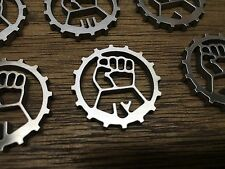 WarHammer Objective Markers - Imperial Fist Cog - Stainless Steel - 30mm