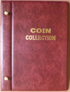 Small-VST-COIN-STOCK-ALBUM-for-50c-COIN-COLLECTION-Holds-90-COINS