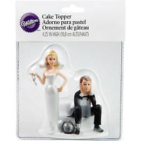 Wilton Wedding Cake Topper Humorous/funny Ball & Chain Crafted In Resin on sale