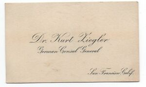 1920s business card german consul general at san francisco dr kurt image is loading 1920s business card german consul general at san colourmoves