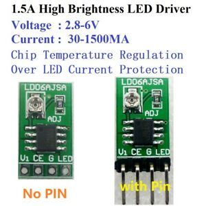 Details about DC 3-6V 1 5A Adjustable LED Driver PWM Controller DC-DC  Constant Current Module