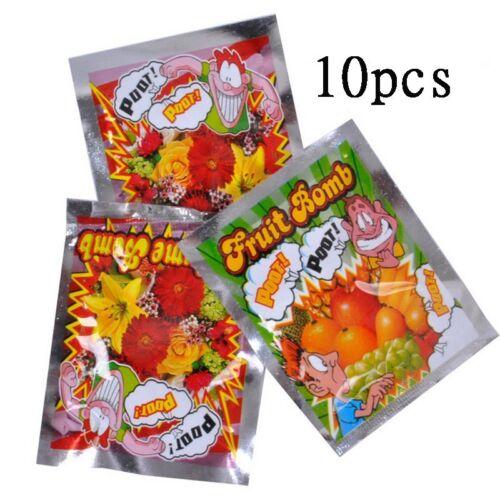 10pcs Stinky Gas Fart Bomb Bags Smelly Nasty Joke Kids Prank Funny Trick Toys