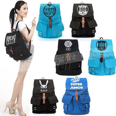 KPOP EXO S J SHINEE CNBLUE BAP Symbol Canvas Satchel Backpack Student Schoolbag