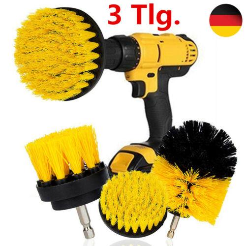 Bürstenaufsatz Bohrmaschine 3er Bohrbürste Reinigung Bürste für Akkuschrauber DE
