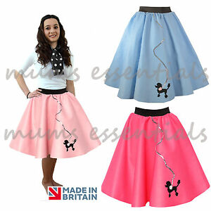 Image Is Loading Ladies 50s Poodle Skirt Felt Rock And Roll