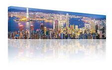 "Panorama 10"" x 30"" San Francisco Skyline Wall Art Foto Su Tela Stampa GRATIS P&P"