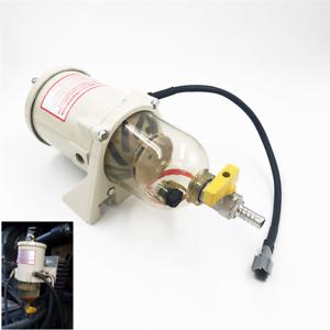 Water Separator 500FG 500FH w// 2010PM Heat Tube Diesel Truck Boat Fuel Filter