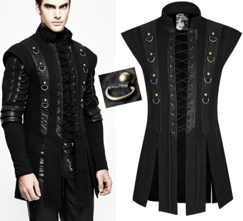 Jacket Anelli Punkrave In Punk Gothic Jeans Bandage Steampunk Stock Allacciatura 5CYwqU