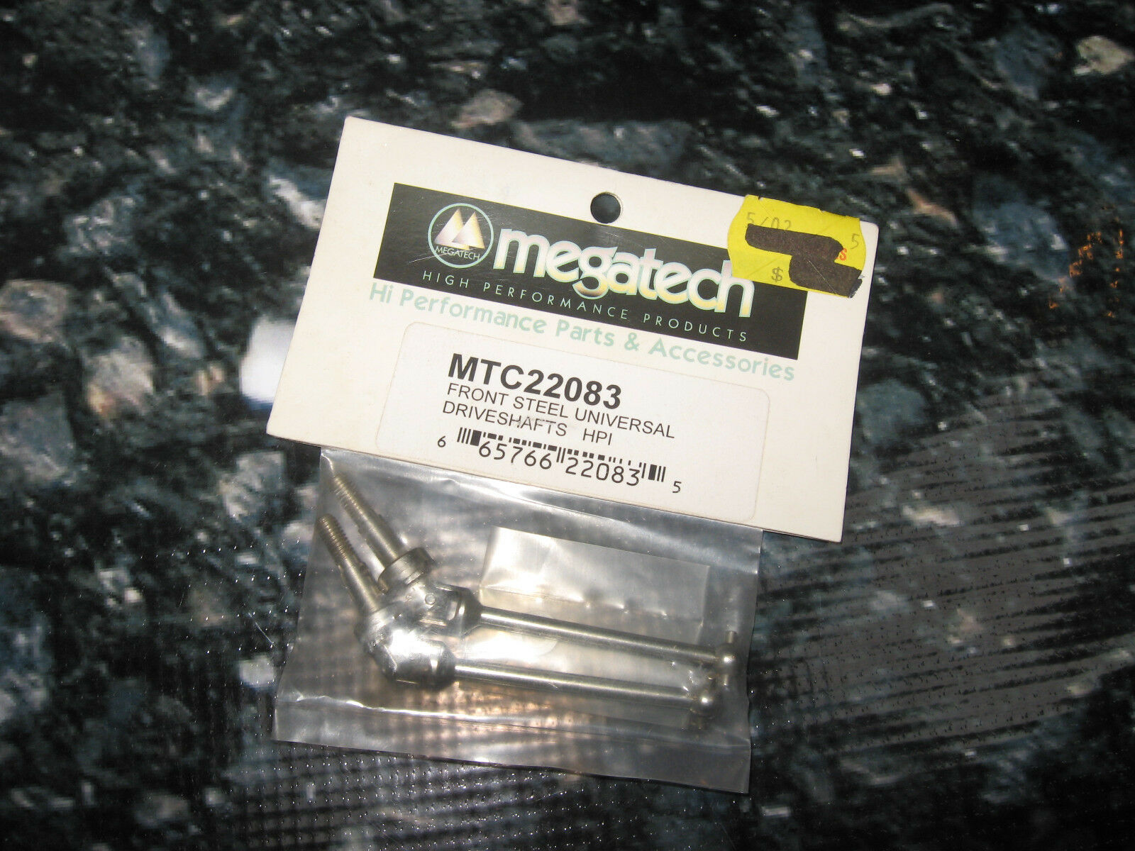 Vintage RC Rare Racing Grade HPI RS4 Front Axles (2) Steel Megatech MTC22083