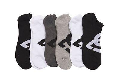 DC 6-Pack Men's Sport No Show Socks Assorted, 10-13 Size (Shoe Size 6-12.5)