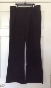 EXPRESS EDITOR CHARCOAL GRAY DRESS PANTS SIZE 4 32X33 9 INCH RISE