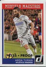 Donruss Soccer 2015 Gold [99] Midfield Maestros Chase Card #5 Arda Turan