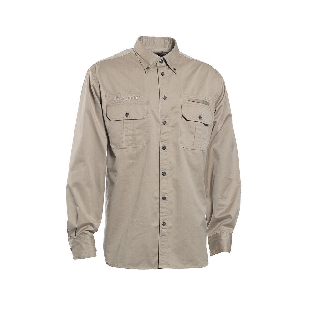 DEERHUNTER 8080 CARIBOU Jagdhemd, langär iges Hemd in Beige Gr. 37 38-47 48