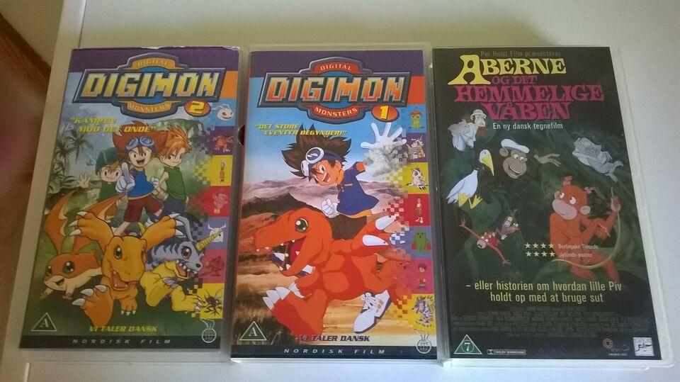 Animation, Digimon 1 + 2 og Aberne og Det hemmelige Våben