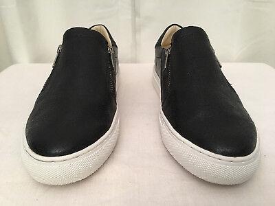 Women's Black Vaso Brillo Zip-up Casual Loafer Size 6 Euc Nice Sketchers sn 49764