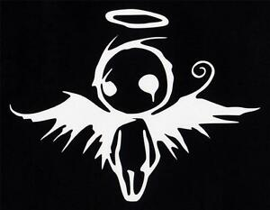 Gothic angel vinyl decal sticker funny fallen angel of death goth emo metal girl ebay - Gothic fallen angel pictures ...